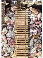 壁紙木の板橋木の橋吊り橋石の花びらの水3Dステレオ床-400 * 280cm