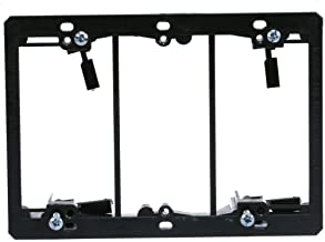 Monoprice 107015 Low Voltage 3-Gang Mounting Bracket (Discontinued by Manufacturer)