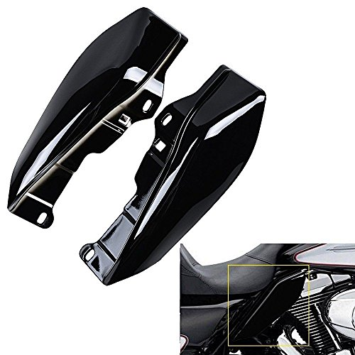 XFMT Black Mid-Frame Air Deflectors Compatible with Harley Touring Road King Tri Glide 2009-2016