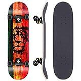 WeSkate Skateboard Komplettboard 79x20cm Holzboard mit ABEC-11...