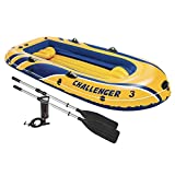 oldzon Challenger 3 Inflatable Raft Boat Set With Pump And Oars With Ebook