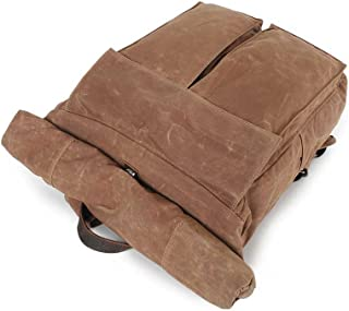 Sturdy Canvas Backpack Retro Simple Schoolbag Large-Capacity Travel Backpack Waterproof Backpack Large Capacity
