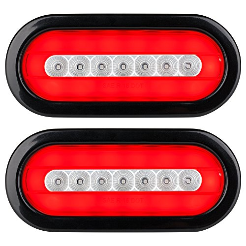 Lumitronics RV HALO LED 6' Sealed Oval Stop/Turn/Tail Lights (Clear Pair)