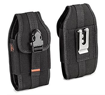 AGOZ Carrying Case for LG Stylo 6 Stylo 5,Stylo 4 Velvet K51,Q70,G8X K92 V60,V50,V40,V20 Rugged Holster Pouch Metal Clip Belt Loops Card Slot Front Buckle to FIT W/Otterbox,LifeProof Cover on