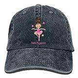DLing Ballerina-Prinzessin-Denim-Hut-justierbare männliche beiläufige Baseballmützen