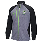 100% polyester color-blocked full zip jacket Climawarm Technology to trap heat in and wick away moisture to keep the body warm & dry Team color sleeve E/heathered fleece body Low profile collar w/Brand name internal zipper pull, front Technology pock...