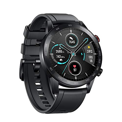 HONOR MagicWatch 2 Smartwatch GPS Orologio Blutooth Cardiofrequenzimetro Monitor del Sonno Fitness Tracker Music Control Sports Smart Watch Uomo Donna Compatibile con Android iOS,Nero