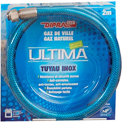 Dipra 73150 - Manguera Flexible de Acero Inoxidable para Gas