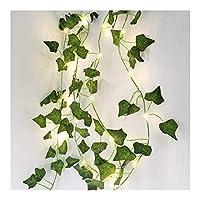 ラブストーリー ホリデーデコレーション、レストランの装飾のためのクリスマスライト、アイビーリーフフレキシブルLEDライト、M 20leds銅線ガーランドストリングライト 芝生 (Color : Ivy Leaf, Size : 4PCS)