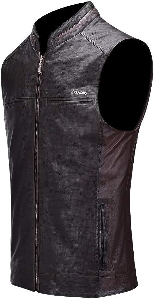 CUADRA Men's Financial Philadelphia Mall sales sale Vest Genuine Leather in