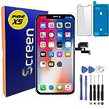 Generico Display per iPhone XS Schermo LCD Nero 5,8 Pollici con 3D Touch, Sostituzione Vetro di Ricambio per Riparazione, Compatibile con Modello A1920, A2097, A2098, A2099, A2100