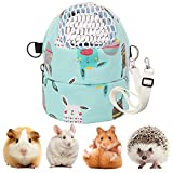 Kuoser Hamster Carrier Bag, Portable Small Animal Travel Handbag Breathable Pet Outgoing Bag with Adjustable Strap, Waterproof Pet Carrier Pouch for Guinea Pig Hedgehog Squirrel Chinchilla
