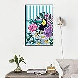 Tucán animal pintura lienzo pared arte abstracto nórdico mural póster moderno estilo dormitorio sala Decoracion Cuadros estética 40x60cm sin marco