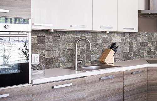DIMEX LINE Paraschizzi Auto-Adesiva per la Cucina MATTONELLE della Parete 260 x 60 cm   Resistente all'Acqua   QUALITA' Premium