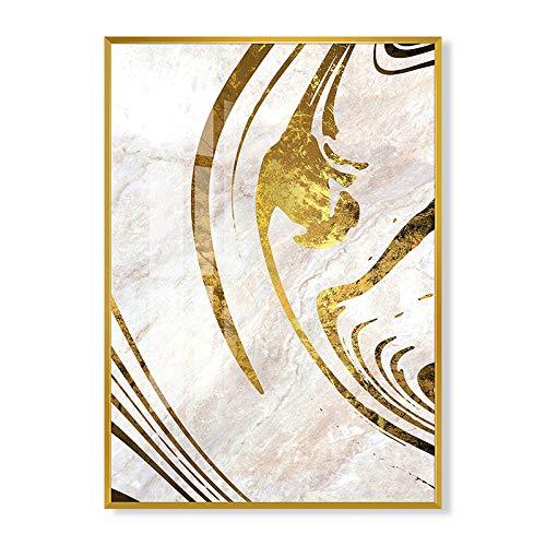 baodanla Kein Rahmen Goldstreifen-Ölgemälde FK 60 * 80cm der abstrakten Kunst des modernen Stils