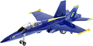 """9"""" X-Planes US Navy F-18 Hornet Blue Jet Toy with Pull Back Action"""
