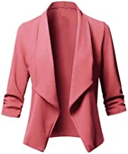 Opinionated Casual Open Front Blazer for Women Work Office Business Jacket Long Sleeve Lightweight Draped Cardigan