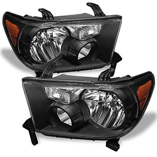 For Toyota Tundra OE Replacement Black Headlights Driver/Passenger Head Lamps