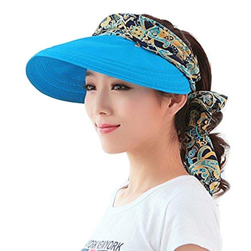 Yimidear Yimidear® Faltbare Sommer Sonnenhut Weiblicher Hut Baseball Kappe Frauen Anti-UV Hut (Blue)