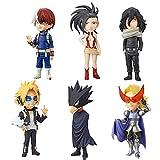 Yzoncd 6 Piezas Anime My Hero Academia Figura De Juguete 6,5 Cm, PVC Deku Bakugou Katsuki Todoroki S...