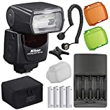 Nikon SB-700 AF Speedlight Flash for Nikon Digital Cameras with AA Battery/Charger Combo & TTL Flash Cord