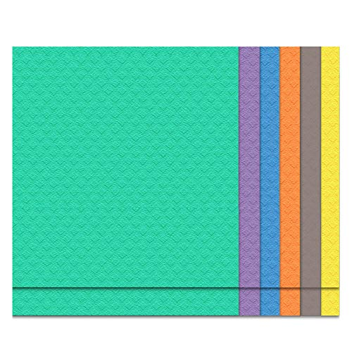 Grandes paños de cocina suecos reutilizables de secado rápido de celulosa, paquete de 12 paños de cocina ecológicos y toallas de plato, toallitas de limpieza absorbentes (3 colores)