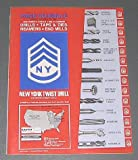 1980 New York Twist Drill Price Schedule (Catalog): Drills, Taps & Dies,...