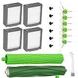 Isincer 19pcs Kits de Repuesto Compatibles con Roomba i7/ E5 i7 + / i7 Plus E6 E7 Recambios, Accesorios con 6 Cepillos Laterales, 4 Filtros, 2 Rodillos