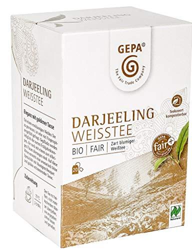 Gepa Bio Darjeeling Weißtee - 100 Teebeutel - 5 Pack ( 20 x 2g pro Pack)