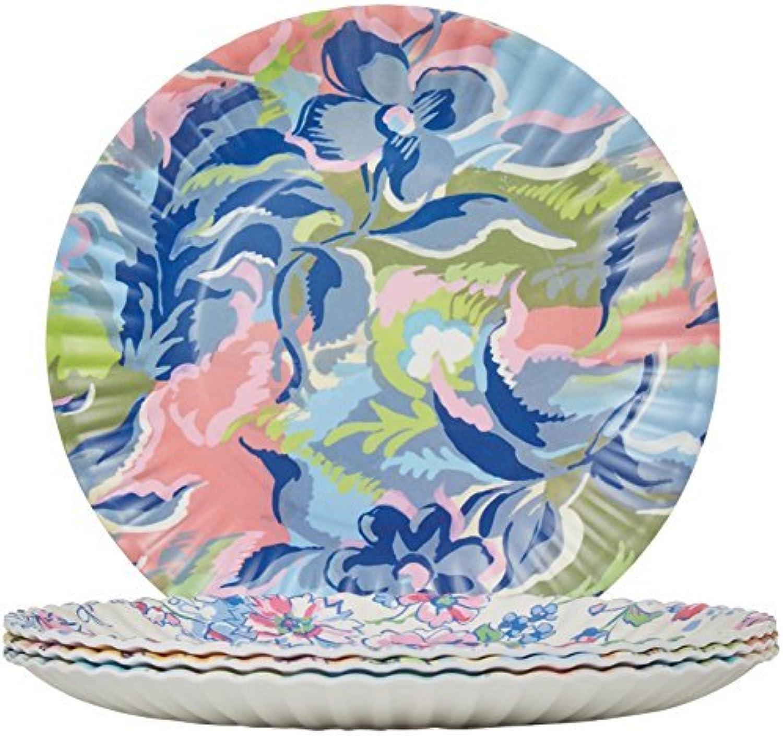 Glitterville Melamine Flea Market Paper Plate, 11Inch, Set of 4 by Glitterville
