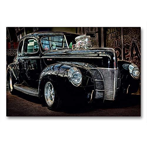 Premium Textil-Leinwand 90 x 60 cm Quer-Format Außergewöhnliche Autos - Hot Rods   Wandbild, HD-Bild auf Keilrahmen, Fertigbild auf hochwertigem Vlies, Leinwanddruck von Eleonore Swierczyna