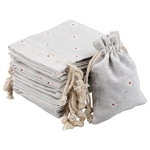 G2PLUS Natur Jutesäckchen 20 Stück Sackleinen Säckchen 9 cm *12 cm Stoffbeutel Leinensäckchen Geschenksäckchen für Adventskalender Schmuck Gastgeschenke, DIY Handwerk