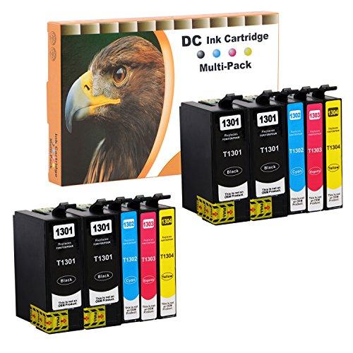 D&C, cartucce d'inchiostro non originali, compatibili con Epson T1301-T1304 10er Set (B/C/M/Y)