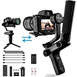 FILMTACY C1 3-Axis Handheld Gimbal Stabilizer YouTube Video Vlog Film Making Stand for Mirrorless and DSLR Camera, Professional Compact Video Stabilizers Smart Control OLED Display Powered by Zhiyun