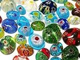 Millefiori - Juego de 150 cabujones de cristal, forma ovalada, perlas de cristal, colores variados, tamaño 6~12 x 5~10 mm R49