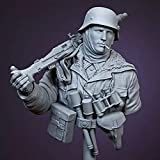 DJXM Modelo de Escultura de Resina 1/10, Tema Militar de 1943, Busto de Soldado, Miniatura Gk, Kit sin ensamblar y sin Pintar