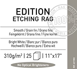Legion Canson Infinity Digital Paper, Etching Rag 310G, 11 X 17 inches, 25 Sheets (F11-EER310111725)