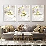XINGCI Gold islamische Koran Kalligrafie Poster Leinwand