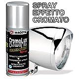 MACOTA Vernice Spray Effetto Colore Cromo ! Cromato CROMATURA per Tutte SUPERFICI 200ML Vernice Multiuso CromoLux