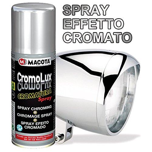 Lack SPRAY Chrom Farbeffekt ! Verchromt für alle Oberflächen 200ml Allzwecklack Macota CromoLux