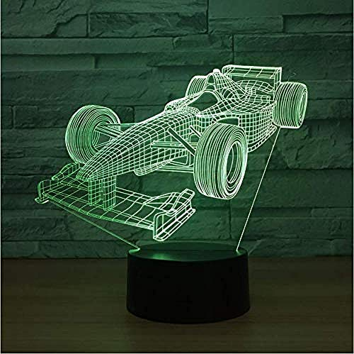 Cool Sports Car Colorful Vision Stereo USB Led Lamp 3D Night Ligth Remote Control Atmosphere Lamp Best Toy Gift Bluetooth Speakers-Touch Switch