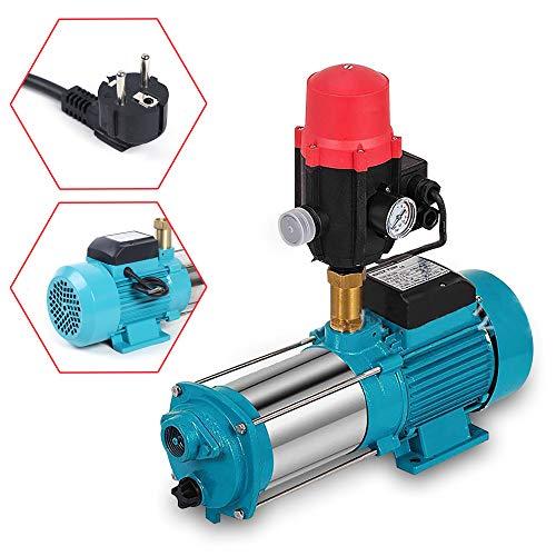 1300W Centrifugal Pump 6000L/H Kreiselpumpe Hauswasserwerk Gartenpumpe Pumpensteuerung Druckschalter 9.8 bar