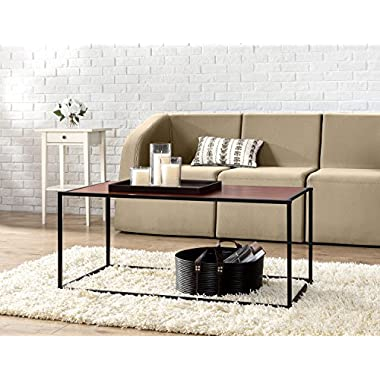 Zinus Modern Studio Collection Classic Rectangular Coffee Table, Brown