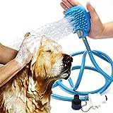 C & BUY Pet Bathing Tool Shower Sprayer for Dogs Pet Dog Bath Artifact Bath Brush Shower Gloves Sprayer Scrubber