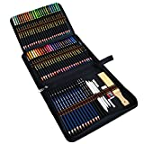 72 Lapices de Colores Dibujo Profesional para Artistas, Niños y Adultos, Incluye Lapices Acuarelables, Lapiz Dibujo, Carbón, Lápices Pastel, Herramientas de dibujo