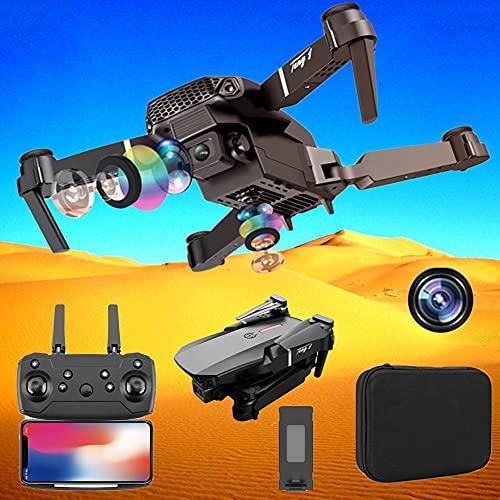 POTIKA E88 Drone RC Com Câmeras HD 4K Para Grandes ângulos, Mini Drone Quadcóptero dobrável 3D Flip 6-Axis Gyro Voo sem cabeça Modo 3D Flip Altitude Hold Modo, FPV Transmissão Drones, 1 Bateria