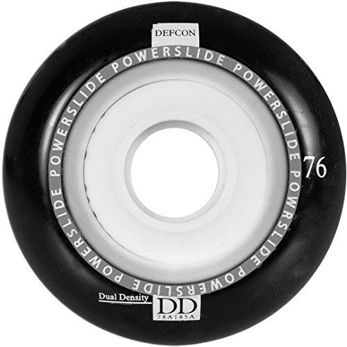 Powerslide Wheels Defcon, schwarz, 76mm 84A/78A, 4 Stück