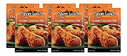 You can use Shore Lunch Classic Fried Chicken for Louisiana style fried chicken with blair's mega death sauce.