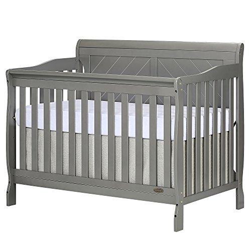 Dream On Me Ashton Full Panel 5-in-1 Convertible Crib, Storm Grey
