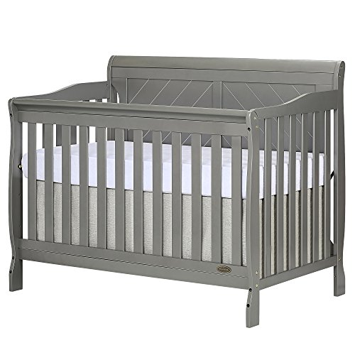 Dream On Me, Ashton Full Panel 5-in-1 Convertible Crib, Storm Grey